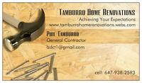 Tamburro Home Renovations Online 4 All Your Renovation Needs!