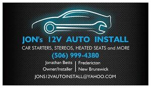 Car Starter, Car Stereo, Heated Seats Professional Installation