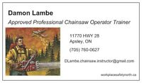 Professional chainsaw operator trainer