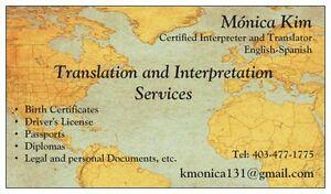 Spanish Translations/Servicios de traducción Edmonton Edmonton Area image 1