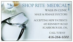 WALK-IN CLINIC / FAMILY DOCTOR ACCEPTING PATIENTS - SCARBOROUGH