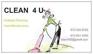 Cottage Cleaning and Yard Maintenance