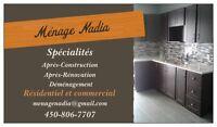 Ménage nettoyage après construction ou rénovation
