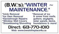 # 1 FULLY - INSURED REMOVAL OF SNOW, ICE DAMS & ICICLES!