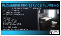 PLOMBERIE PRO SERVICE / PLOMBIER PLUMBER GATINEAU (819) 643-6014