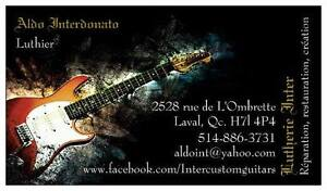 Lutherie, reparation, restauration, guitares et basses