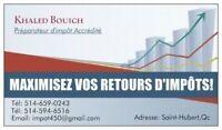DÉCLARATION D'IMPÔT / INCOME TAX - 25$+