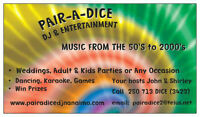 PAIR A DICE DJ & ENTERTAINMENT  www.pairadicedjnanaimo.com