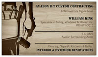 Avalon R/T Custom Contracting- Renovations Big and small