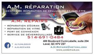 IPHONE LCD REPAIR /REPARATION D'ECRAN IPHONE/SAMSUNG/LG