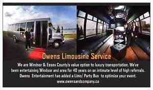 ~Limo Bus with WIFI and DJ service for *Special Event's*~ Windsor Region Ontario image 1