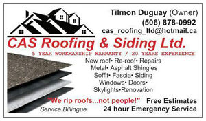 **** ROOFING & SIDING ****CALL NOW FOR A FREE QUOTE