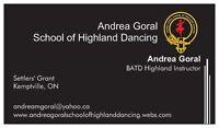 Highland Dancing ~ Kemptville