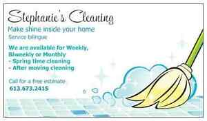 STEPHANIE CLEANING 613-294-3439