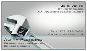 New Plumbing company in town. St. John's Newfoundland image 1