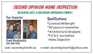 SECOND OPINION HOME INSPECTION London Ontario image 2