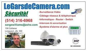Caméras de surveillance et système d'alarme intercom avec installation camera de sécurité