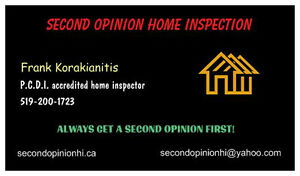 SECOND OPINION HOME INSPECTION London Ontario image 1