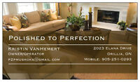 Polished to Perfection Cleaning - Serving Muskoka/Barrie/Orillia