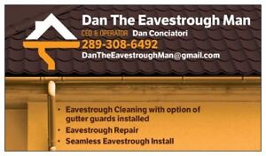 Eavestrough Gutter Cleaning, Repair & Seamless Install