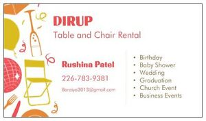 DIRUP - Table and Chair Rentals for small to large party Windsor Windsor Region Ontario image 3