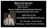 Mike's Entertainment Service Professional DJ Wedding Expert