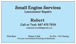 Lawnmower Repair – House calls. Flat Rate – Markham