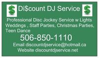 Discount DJ Service Wedding Event Disc Jockey