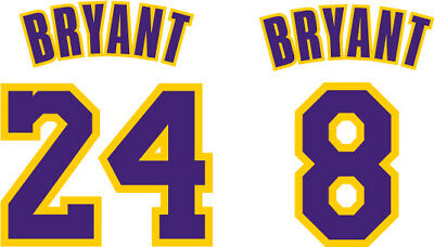 KOBE BRYANT sticker decal #8 #24, NBA basketball jersey card FREE SHIPPING