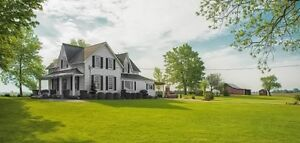 Country property with house scenic hilltop views, shop and barn