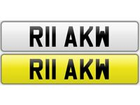 Private number plate for sale R11 AKW