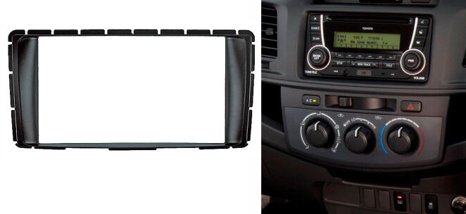 2 Din Radio Stereo Panel for Toyota Hilux Fortuner Dash