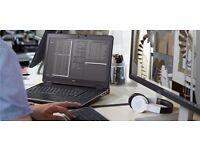 "Dell Precision i7 Quad 4810MQ 15.6"" FHD 1080p IPS, 16GB Ram, AMD Nvidia 512GB SSD AutoCad/CAM/Gaming"