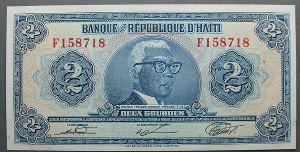 Haiti 2 Gourdes Bank Note – ND (Issued Circa: 1980-82) – P#231 ~2191