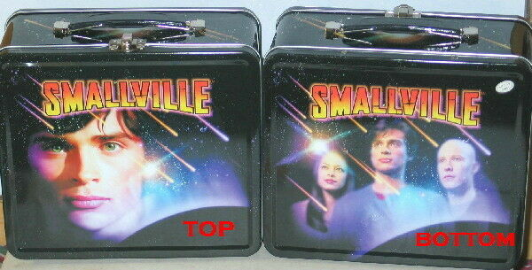Smallville TV Show Illustrated Large Metal Lunchbox 2003, NEW UNUSED