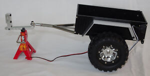 1/10 Aluminum Hitch Mount Trailer With LED's For Crawler - See m