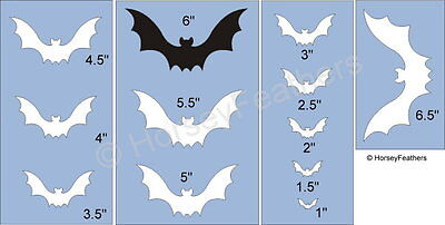 Halloween Bats Stencils (NEW-Bats~Shapes STENCIL~DIY U Paint Halloween Cave Bird Vampire Fang Fly)