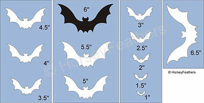 NEW-Bats~Shapes STENCIL~DIY U Paint Halloween Cave Bird Vampire Fang Fly Holiday