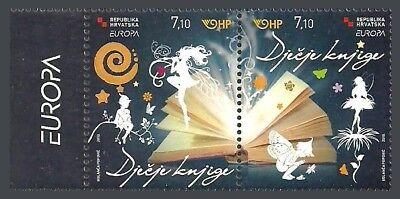 CROATIA 2010 EUROPA CHILDRENS BOOKS BUTTERFLIES FAIRIES MUSIC FLOWERS SET MNH
