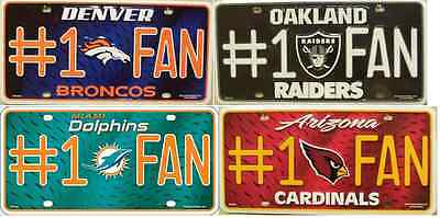 NFL License Plate #1 Fan Football Novelty Metal 6X12 USA NEW - Nfl Novelties