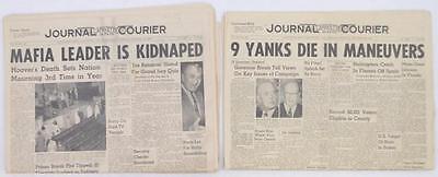 October 21, 1964 newspaper Hoover death mafia leader Joe Bonanno kidn... Lot 341