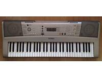 Yamaha e303 Electronic Keyboard touch response SYNTHESIZER Full-Size Keys MIDI w/ AC Adapter