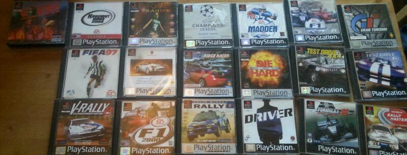 Job lot of play station 1 games complete with booklets