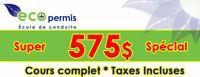 *****575$Tax inclus ****pour le programme complet