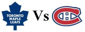 recherche des billets pour le match Canadiens vs Toronto Samedi