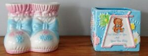 LOT OF 2 VINTAGE BABY VASES/ PLANTERS