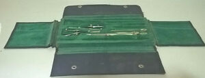 The Hughes-Owens Co. 10 piece Drafting Set in Leather Case 937B