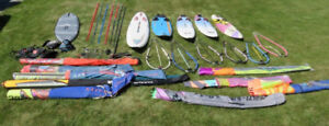 Complete set of Windsurfing gear for 2 people + truck cap