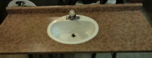 """62"""" Bathroom Countertop with sink and faucet"""