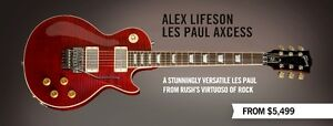 WANTED - Alex Lifeson Gibson Les Paul Axcess in Crimson